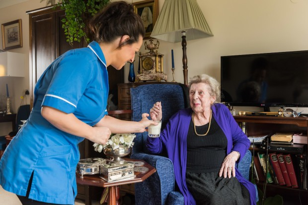 Carer with a resident