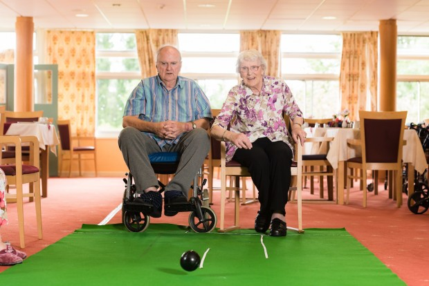 Two residents invloved in an activity
