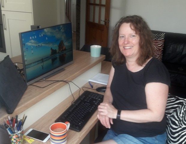 staff member working from home