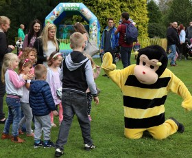 Community buzz bee with visitors