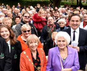 Folk Hall reopening crowd