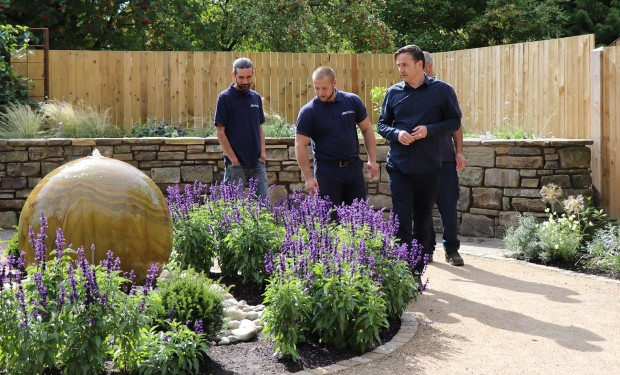 Staff in the circle garden