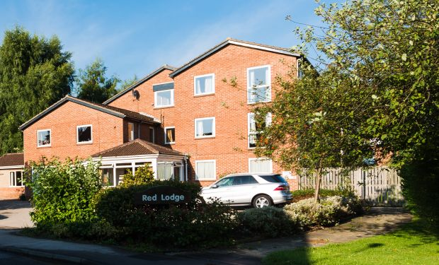 An external view of Red Lodge care home