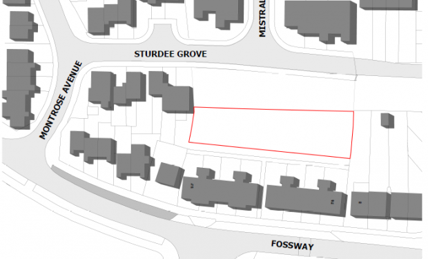 Plot of land  to be purchased adjacent to Sturdee Grove