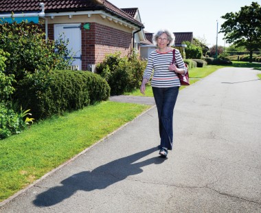 Joseph Rowntree Housing Trust resident walking