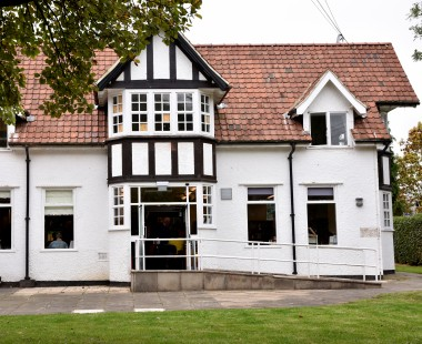 The outside of New Earswick Library at the Folk Hall